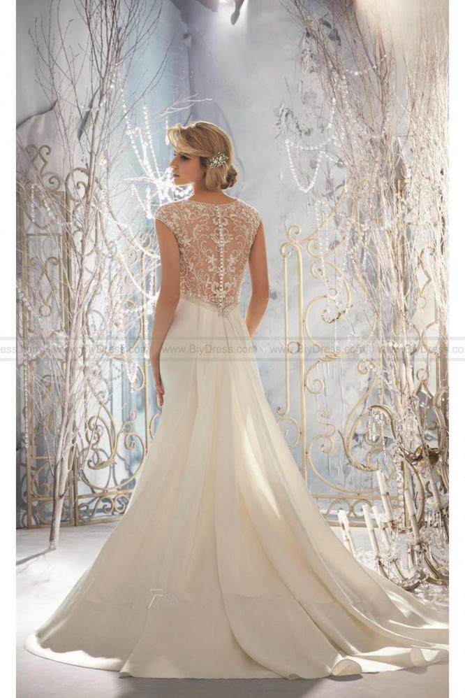 satin mori lee wedding dress | hire wedding dress