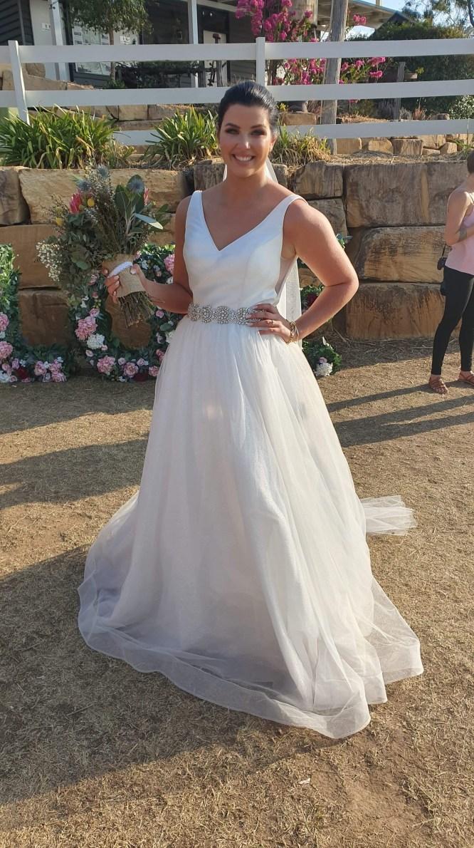 size-12-minimal wedding dress   wedding dress hire brisbane