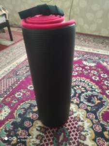 Yoga Mat Extra Thick 10 MM Non-slip with Bandages photo review