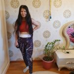 Yoga and Fitness High Waisted Printed Leggings photo review