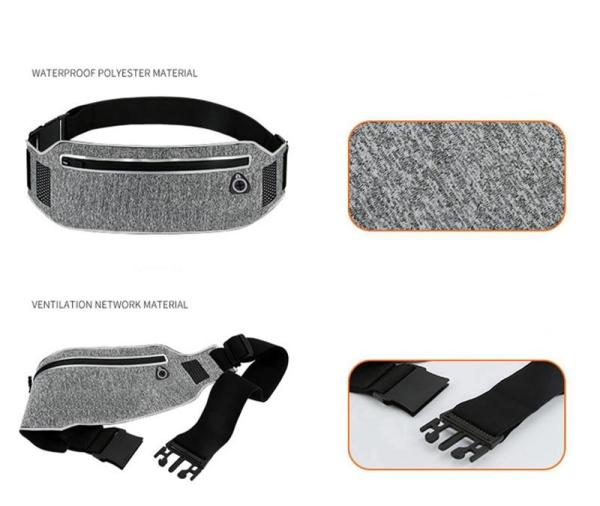 Running Waist Bag with Hidden Pouch - Wrist Wallet - Only Fit Gear