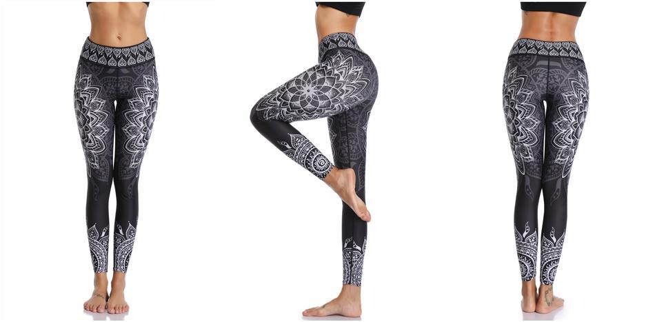 Printed Leggings Seamless for Yoga & Fitness in 4 Cool Design
