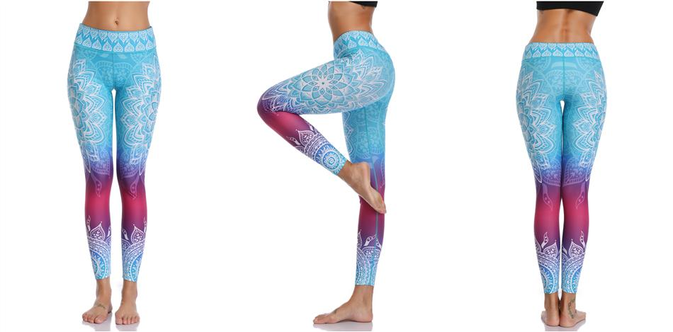 Printed Leggings Seamless for Yoga & Fitness in 4 Cool Design - 3