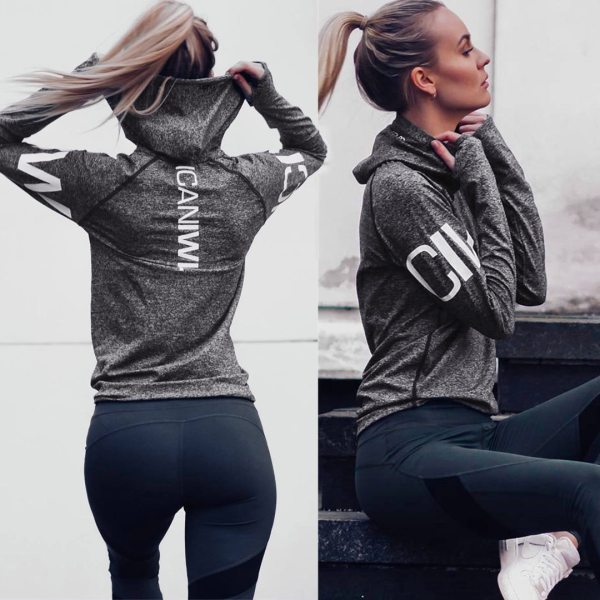 Yoga and Fitness Hooded Jacket