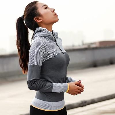 Yoga and Fitness Hooded Jacket Long Sleeve