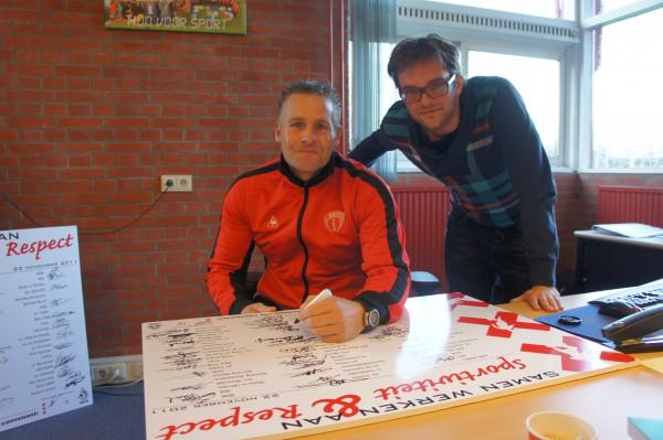 Foto Ondertekening convenant sportiviteit