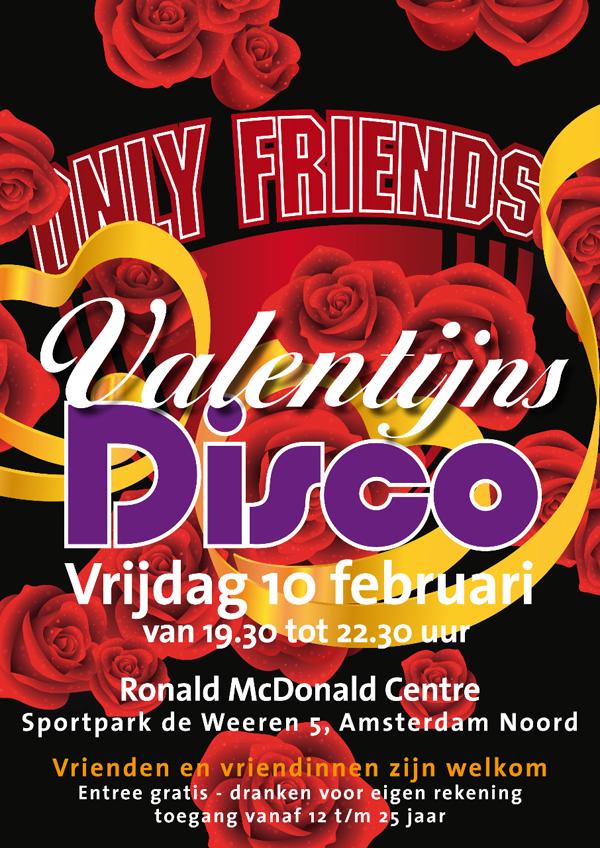 Poster Valentijnsdisco