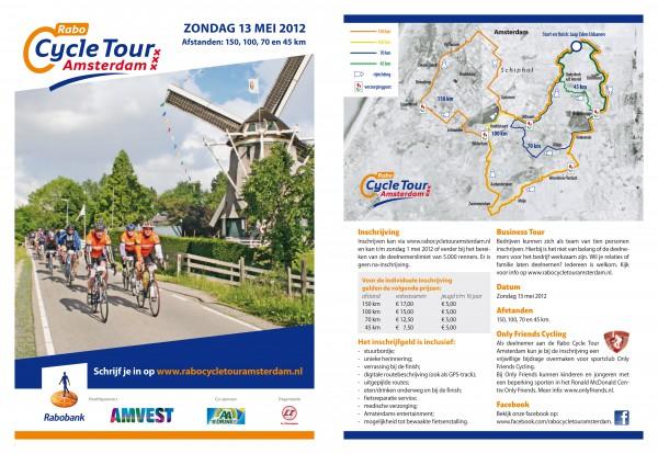 2012 folder Rabo Cycle Tour Amsterdam