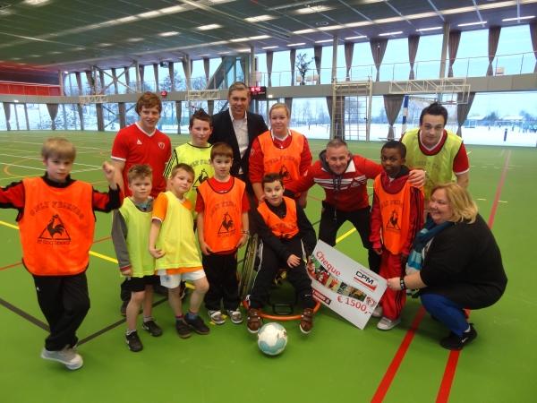 CPM samen met Dennis en onze zaalvoetballers.