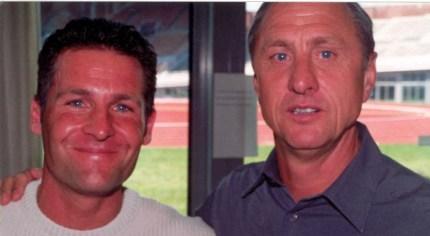 Johan Cruijff met Dennis Gebbink in 2000