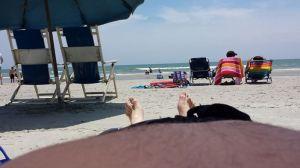 William at the beach.