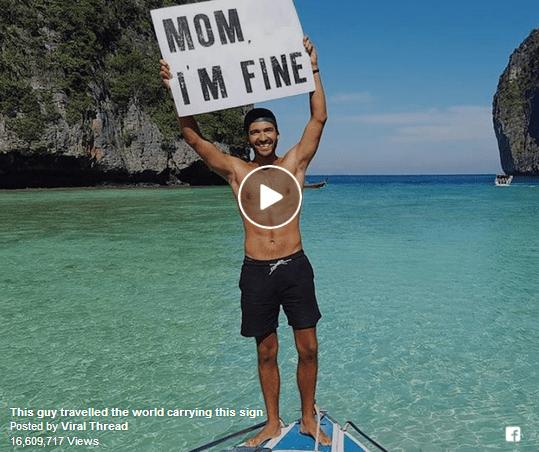 Си патува низ светот и на уникатен начин ја известува мајка му дека е ок! Блазе си му