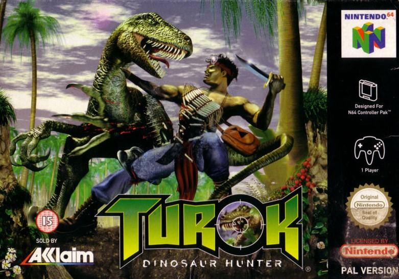 Turok: la caja de Nintendo 64
