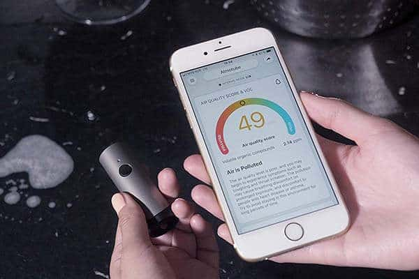 Portable air quality monitoring device