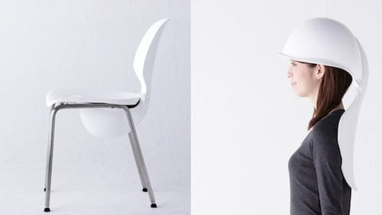 disaster-protecting helmet chair