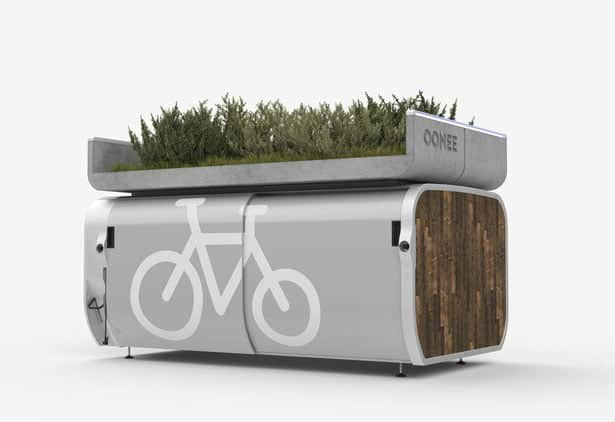 Ooneepod Mini for parking bicycles
