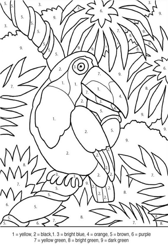 Find the right colors first to start coloring in coloring