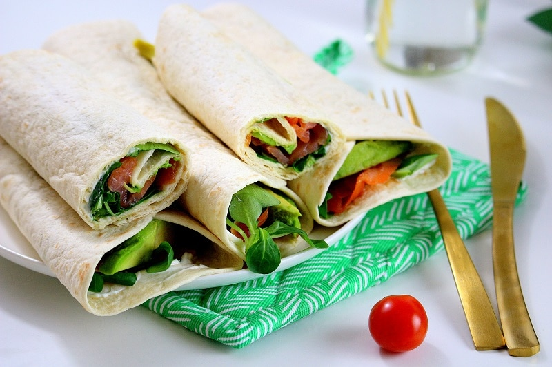 wraps saumon avocat only laurie