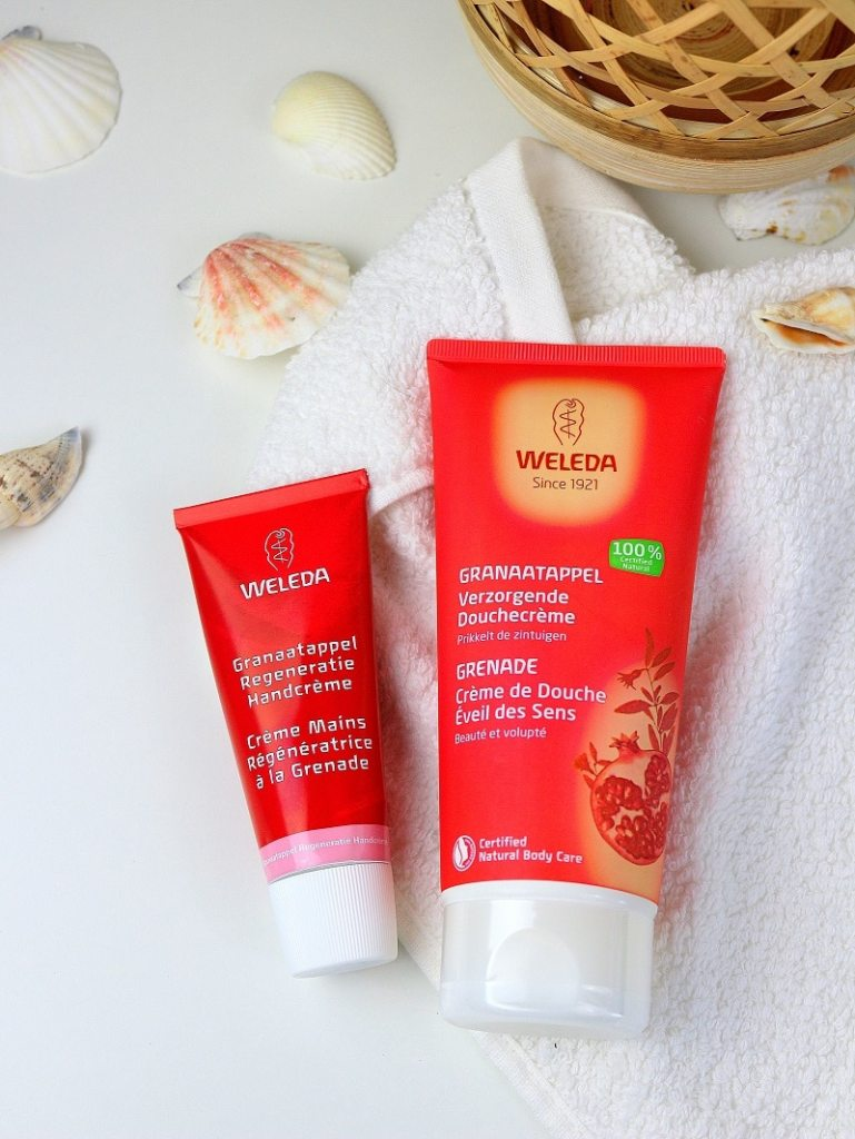 crème douche et mains weleda grenade only laurie