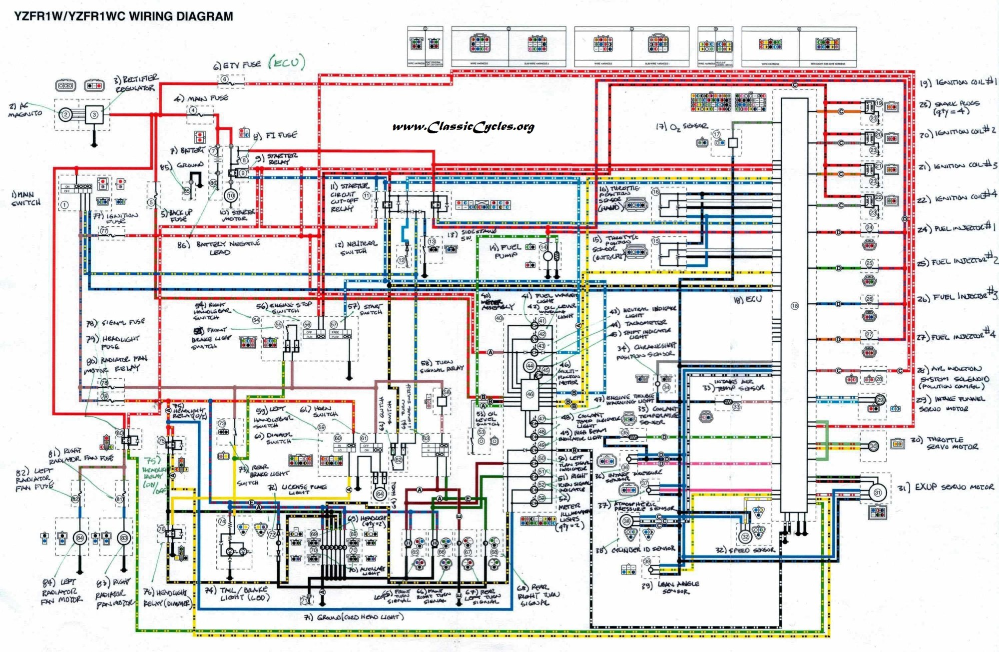 hight resolution of yamaha rz350 wiring diagram