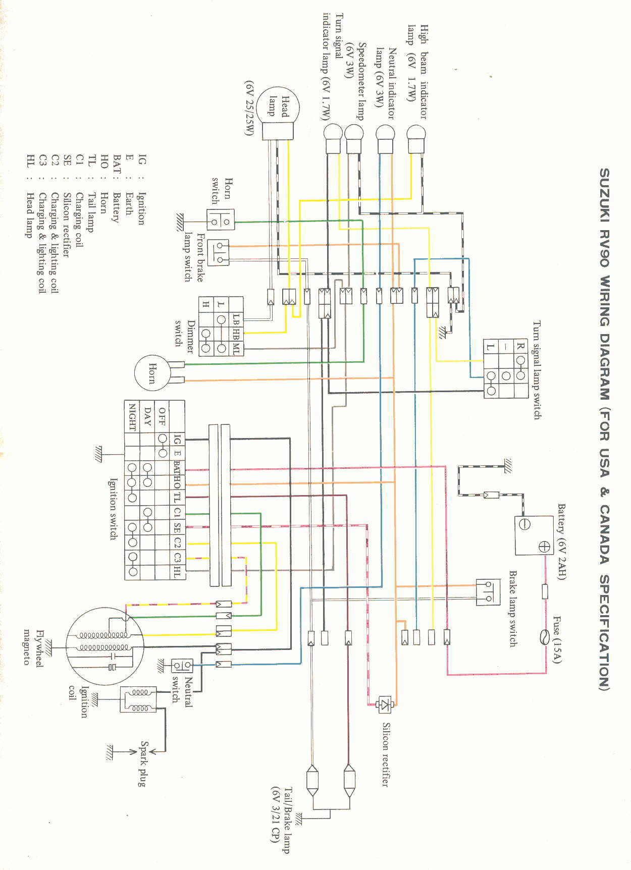 hight resolution of suzuki rv90 wiring diagram