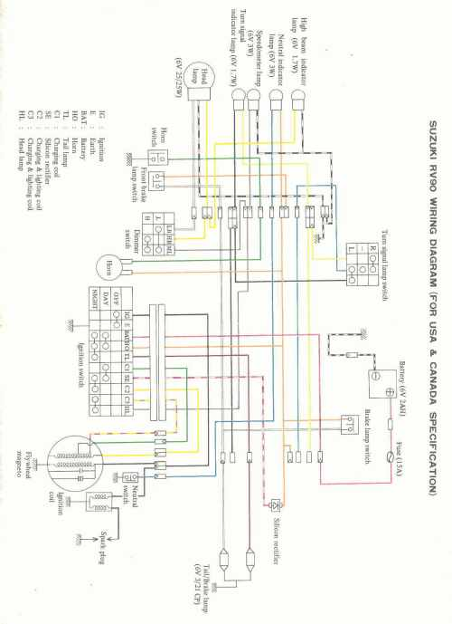 small resolution of suzuki rv90 wiring diagram
