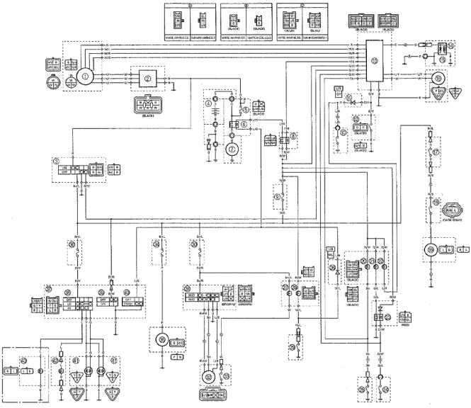 yamaha moto 4 wire diagram color code