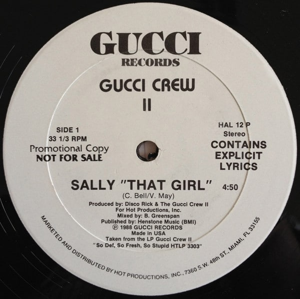 """Gucci Crew II – Sally """"That Girl"""" / Dating Game"""