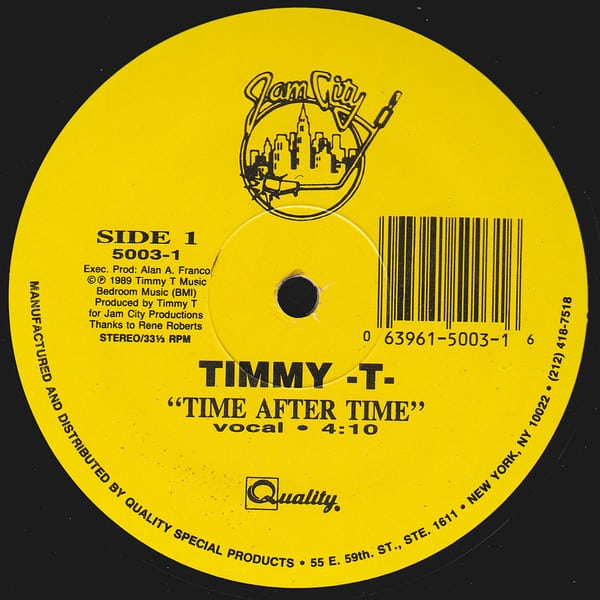 Timmy -T-  – Time After Time