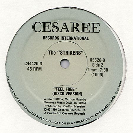 The Strikers ‎- Body Music / Feel Free