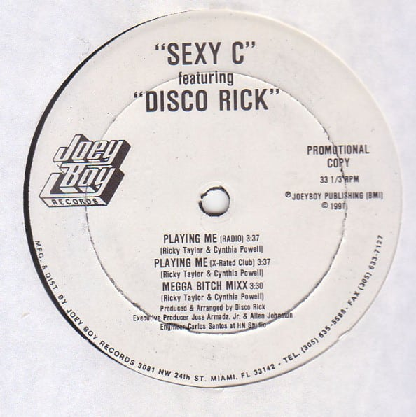 Sexy C Featuring Disco Rick / The Dogs Featuring Disco Rick – Playing Me / Work It Out