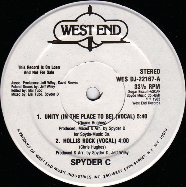 Spyder C - Unity (In The Place To Be)