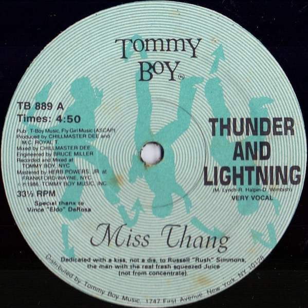 Miss Thang ‎- Thunder And Lightning