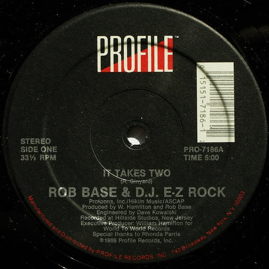 Rob Base & D.J. E-Z Rock ‎- It Takes Two