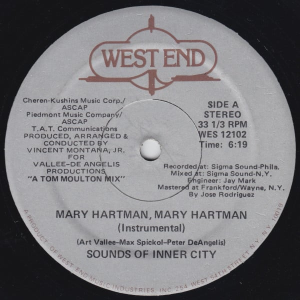 Sounds Of Inner City – Mary Hartman, Mary Hartman
