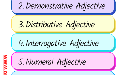 types of adjective