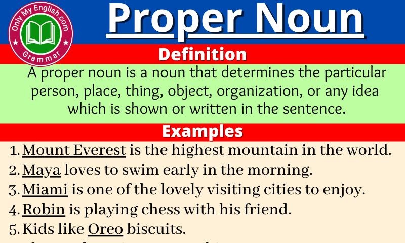 Proper Noun: Definition, Examples, List & Sentences