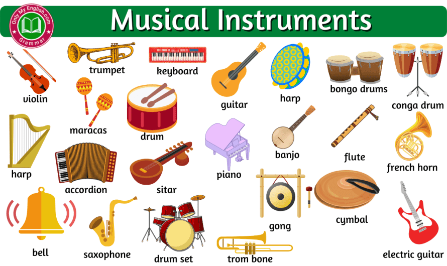 Musical Instruments Name List a-z