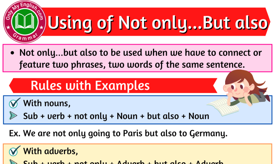 Using of Not only…But also Rules and Examples