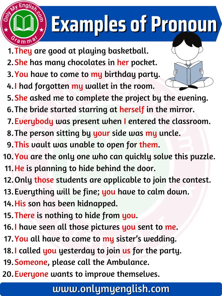 examples of pronoun