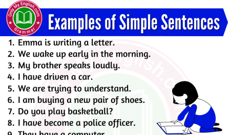 example of a simple sentence