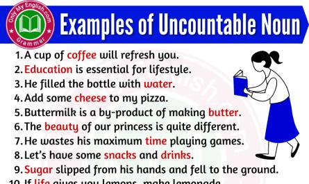 examples of uncountable noun in sentences