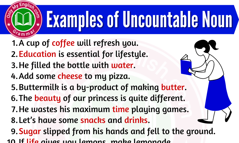 20 Examples of Uncountable Noun are in Sentences