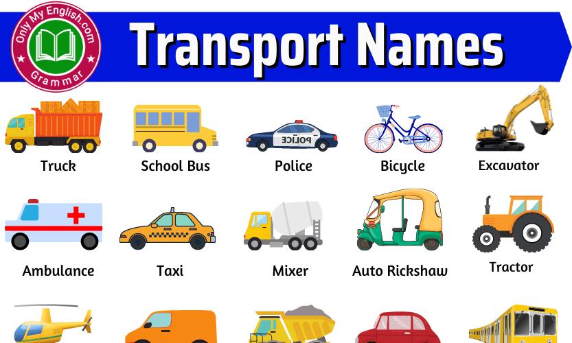 Transport Names List, Means of Transport Name