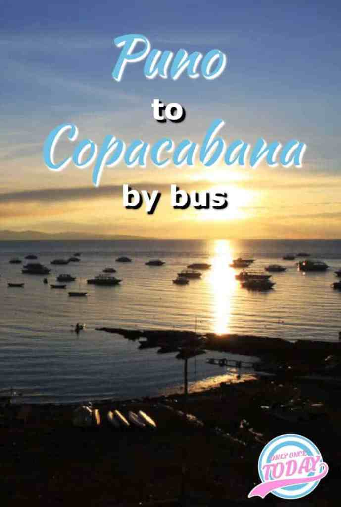 Puno to Copacabana by bus