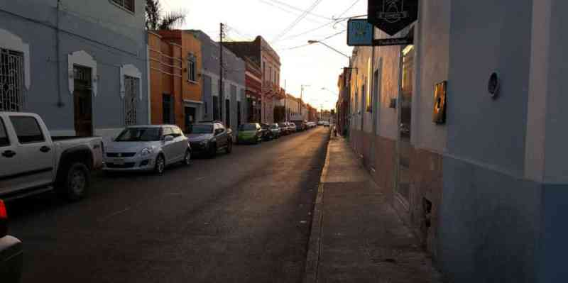 View of a street in Mexico