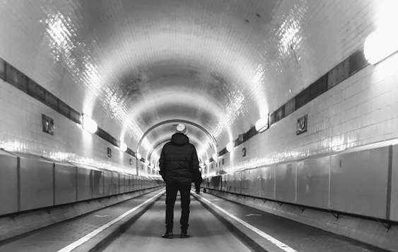 Old Elbe Tunnel - 2 days in Hamburg