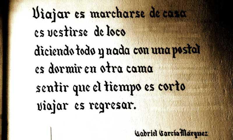 A Spanish verse by Gabriel Garcia Marquez