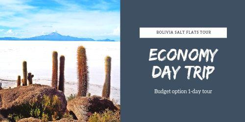 1 day economy tour at Salar de Uyuni