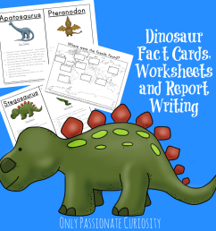 Dinosaur Unit Study: Fact Cards and Dino Reports - Only Passionate Curiosity [ 1024 x 1024 Pixel ]